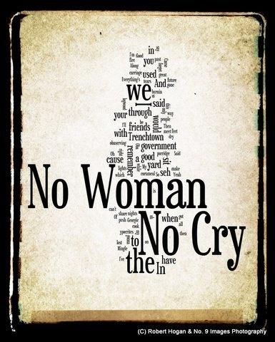 No Woman No Cry  Bob Marley Word Art  8x10 Word Cloud by no9images
