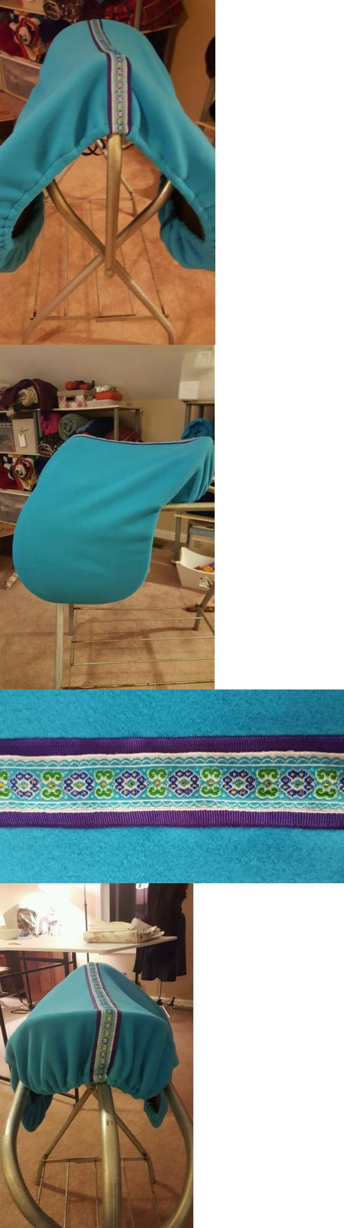 Saddle Covers 179000: English Saddle Cover- Turquoise With Pretty Ribbon Trim BUY IT NOW ONLY: $30.0