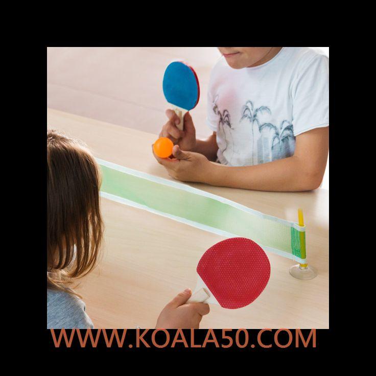 Juego de Ping-Pong Mini - 2,79 €  ¡Cualquier momento y lugar son buenos para disfrutar de un rato divertido conel juego de ping-pong mini!Tamaño reducido y fácil instalación2 raquetas de madera (aprox. 9,5 x 15 cm)1 pelotade...  http://www.koala50.com/regalos-para-ninos/juego-de-ping-pong-mini