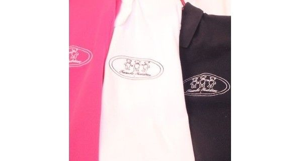 Ladies T-Shirts - Ladies smart polo shirts with Tambo Teddies embroidered logo.  Colours: Navy, White, Pink  Sizes: 8, 10, 12, 14, 16, 18, 20, 22