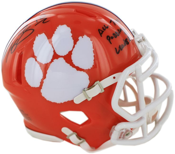 Tajh Boyd Signed Clemson Mini Helmet w/ 'All Time Passing Leader' insc ( Fanatics Authentic)