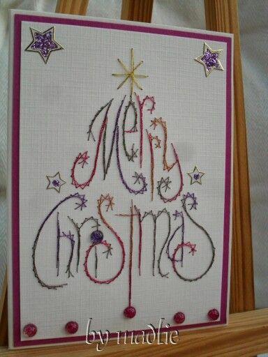 fadengrafik weihnachten christmas card ideas pinterest. Black Bedroom Furniture Sets. Home Design Ideas