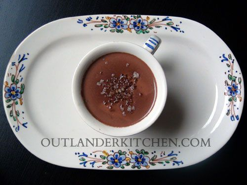 Hot Chocolate with La Dame Blanche from Outlander Kitchen