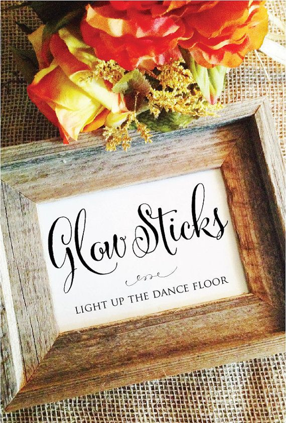 Glow Stick Wedding Glow Sticks Send Off Wedding Decoration Glowsticks Light up the dance floor (Frame NOT included)