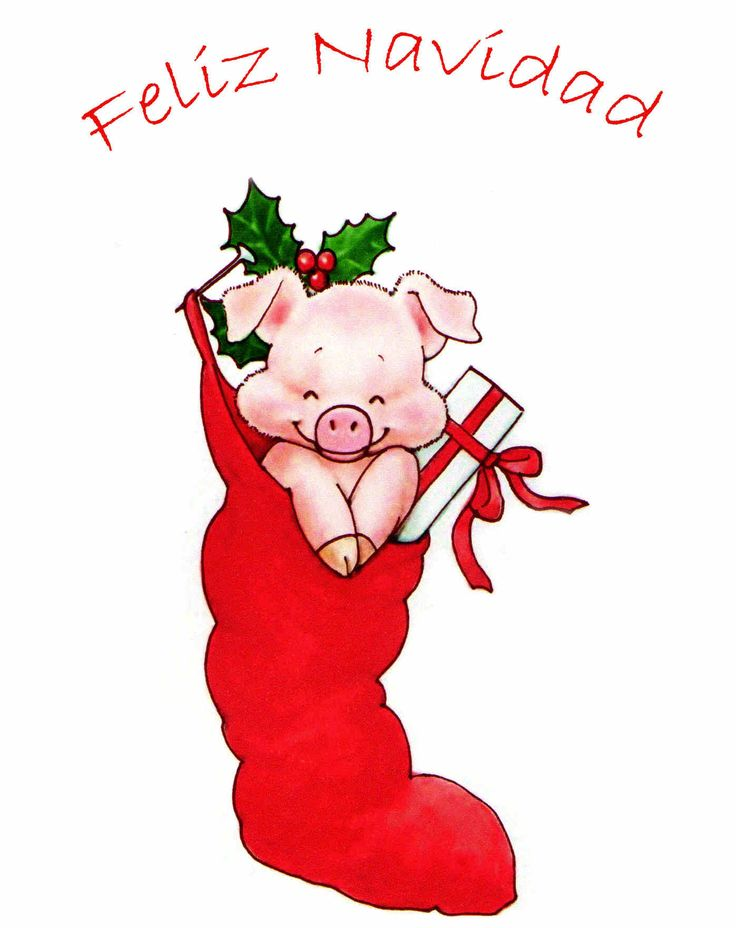 Рисованные новогодние картинки со свинкой, днем рождение слоном