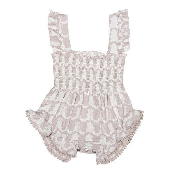 Shirred Playsuit - Berry Parfait Pink - https://www.bellaboobaby.com.au/products/organic-bamboo-shirred-playsuit-berry-parfait-pink