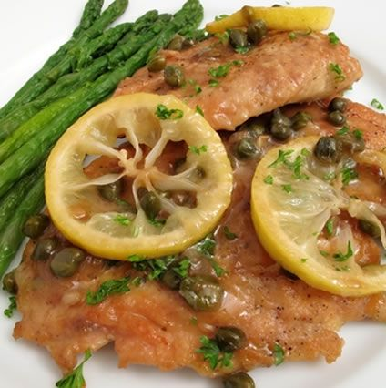This slow cooker recipe for chicken piccata is easy to follow and the resulting meal is delicious. Featuring the tang of lemons and the saltiness of capers, as well as garlic, paprika, artichoke hearts, white wine and more, this really is a terrific dish. Once the chicken is cooked through, you can serve this dish. This takes different amounts of time in different crockpots.