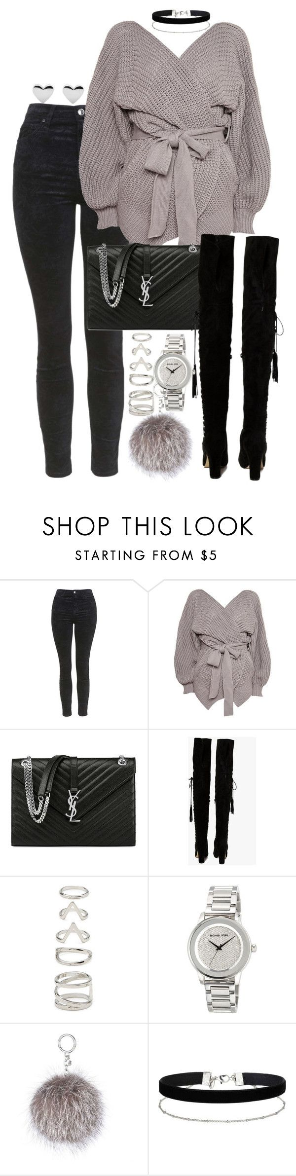 """Untitled #184"" by marinas-clothes ❤ liked on Polyvore featuring Topshop, Yves Saint Laurent, Boohoo, Forever 21, MICHAEL Michael Kors and Miss Selfridge"