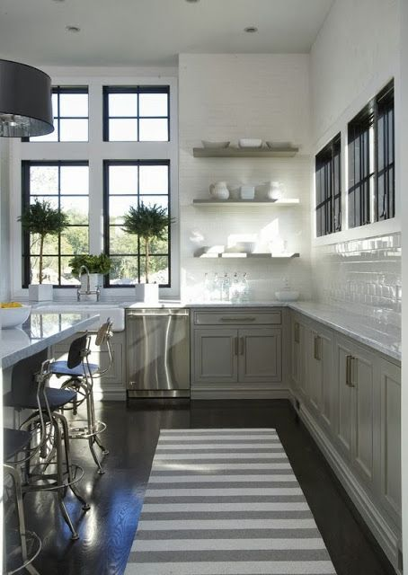 Splendid Sass: KITCHEN LOVE  love the black window frames