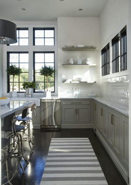 Splendid Sass: KITCHEN LOVE  love the black window frames