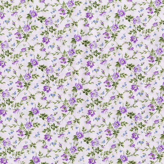 Dainty Blooms Lavender Afternoon In The Attic By Rjr Blue Floral Wallpaper Purple Flowers Wallpaper Vintage Paper