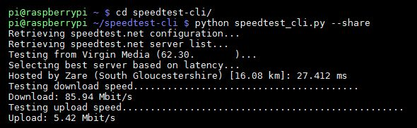 How to measure the internet speed on your Raspberry Pi using Python from the command line.