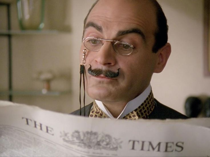 "Hercule Poirot""s Little grey cells at work on the Time's"