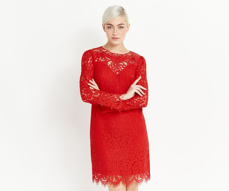Meet Lacy: Lacy started life as a roll of fabric in a sleepy haberdashery. Little did she know that she was destined for so much more. Now Lacy's beauty can be shared with the world in a bright red number that will never be ignored again…Click the image to shop the look.