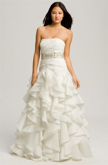 Faviana 'Chelsea' Strapless Satin-Faced Organza Gown