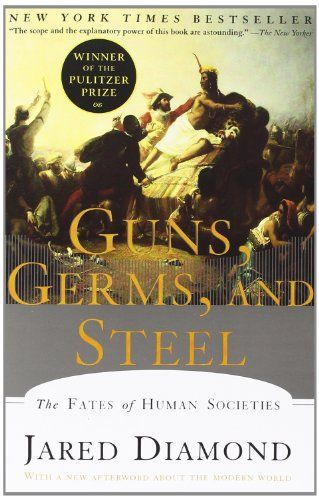 Guns, Germs, and Steel: The Fates of Human Societies by Jared M. Diamond http://smile.amazon.com/dp/0393317552/ref=cm_sw_r_pi_dp_GmfMwb1TT739W