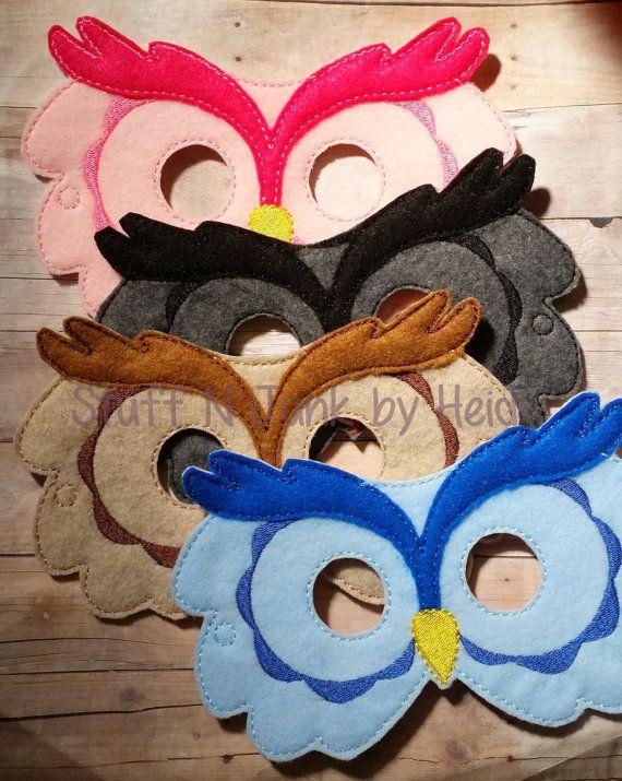 Owl felt mask woodland creature mask by stuffnjunkbyheidi on #Etsy