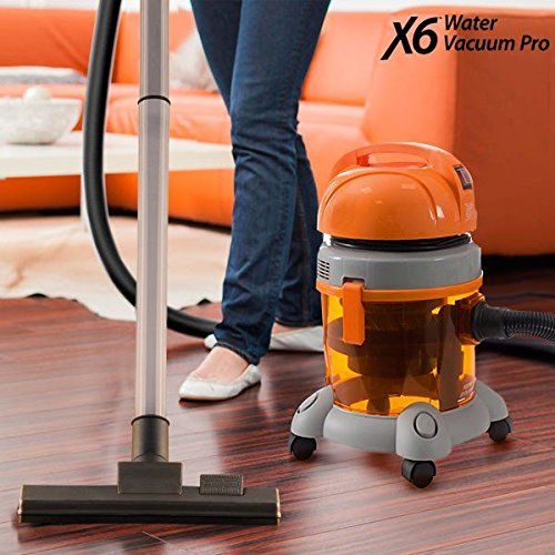 X6Water Vacuum Pro–Aspirateur sans sac avec réservoir d'eau, 1400W: Aspiration à sec ou humide Puissant et robuste Grande capacité…