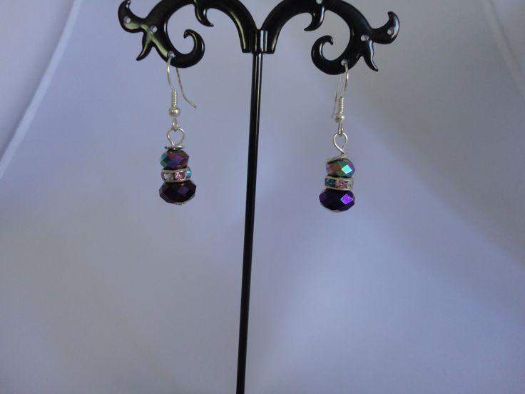 Purple Pure Elegance earrings from set