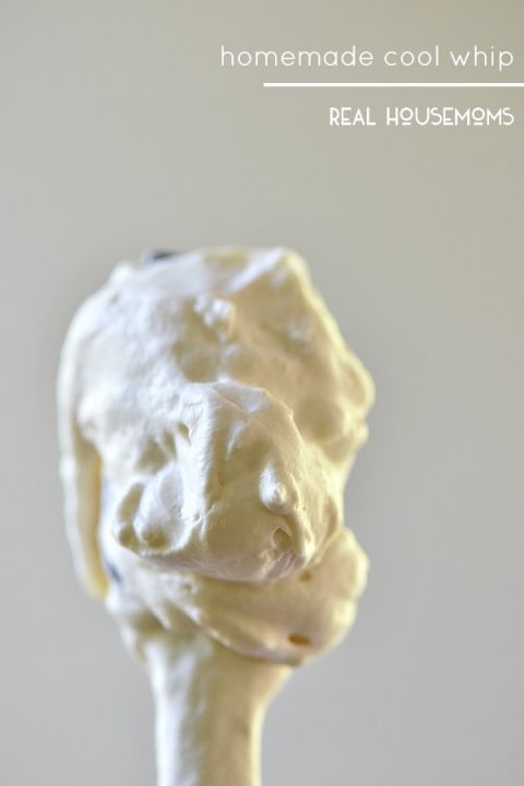 Homemade Cool Whip is so easy to make and can be used in all those recipes that call for Cool Whip