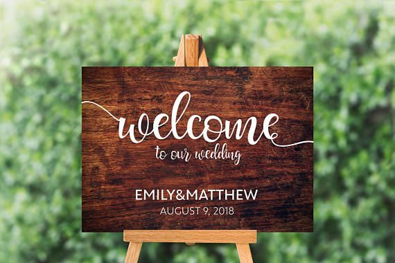 wooden wedding welcome sign printable wood sign template rustic
