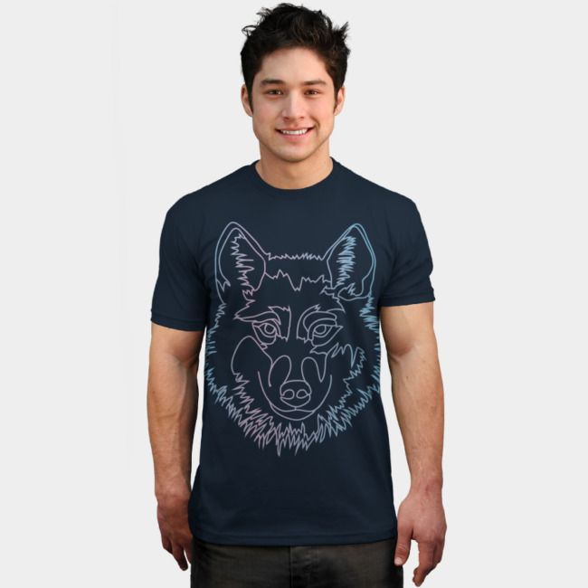Vector wolf in one line by #beatrizxe   #dbh #designbyhumans #tee #shirt Vector illustration of a wolf in a single line. It has a gradient of blue and violet. It looks better with dark background. #wolf #animal #wild #wildlife #nature #animal #animals #digital #illustration #vector #line #blue #violet #lilac #spirit #animalSpirit #canine #neon #abstract #line #art #spirit