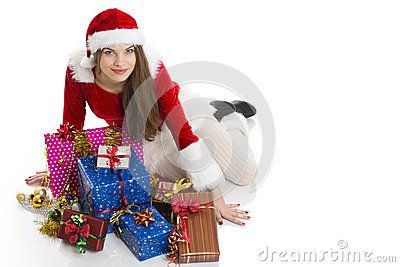 Beautiful Christmas sexy girl wearing Santa Claus clothes with many gift boxes over white background. Download Christmas Girl And Presents Royalty Free Stock Photos for free or as low as 0.69 lei. New users enjoy 60% OFF. 19,941,285 high-resolution stock photos and vector illustrations. Image: 28128088