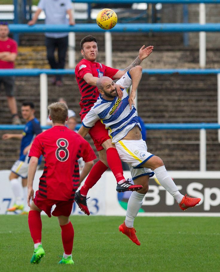 Queen's Park's Adam Cummins in action during the Betfred Cup game between Morton and Queen's Park.
