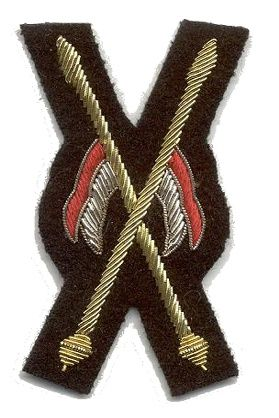 Appointment badge for the Musical Ride, worn on the right sleeve of the Scarlet tunic.