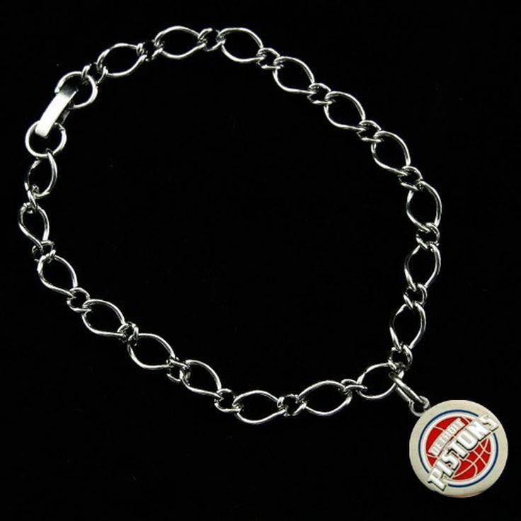 Detroit Pistons Ladies Silver-Tone Charm Bracelet - $7.99