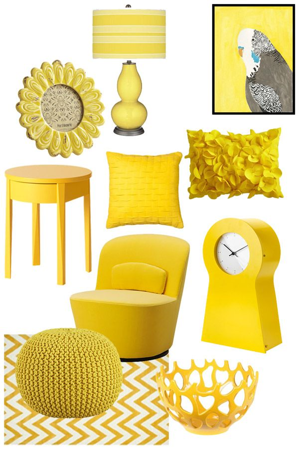 home accessories yellow