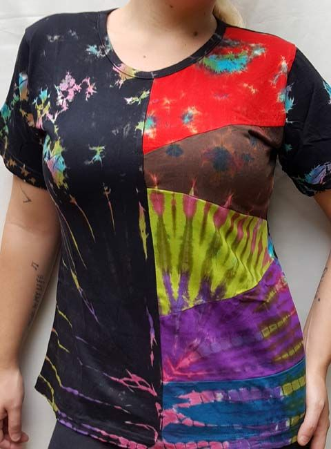 This awesome mudmee tie dyed cap sleeve top is made in Kathmandu and brought to you by Himalayan Handmades South Africa #hippie #festival
