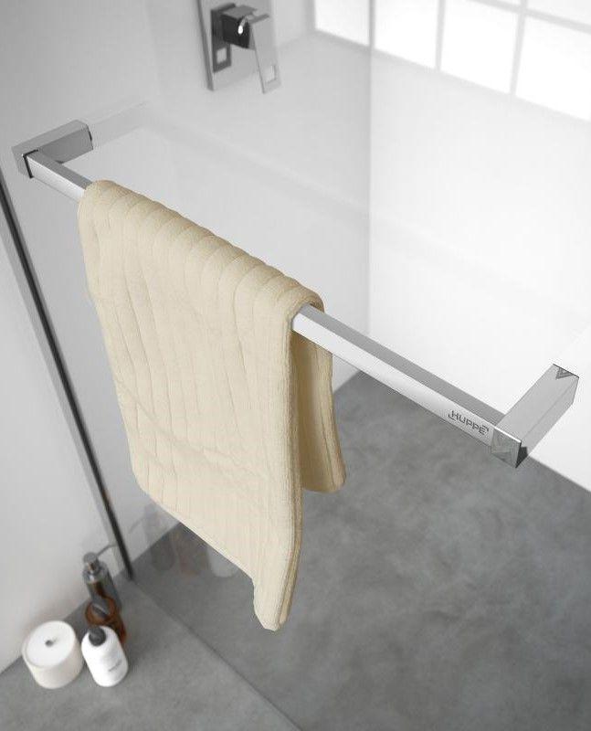 HüPPE Universal Handtuchhalter kürzbar silber hochglanz