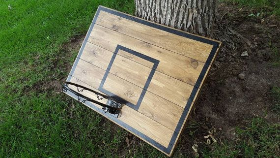 Reclaimed Wood Basketball Hoop With Painted by BlueFoxFurnishings