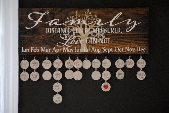 Family birthday board-celebration by SunshineCustomDecor on Etsy