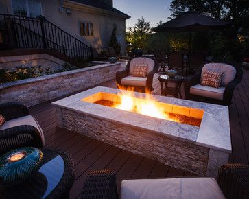 Rectangular Fire Pit Design Ideas, Pictures, Remodel, and Decor