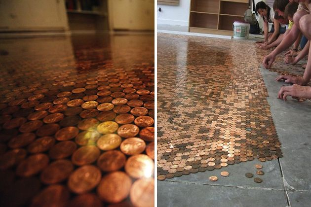 How To 5 Easy DIY Steps To Craft Your Own Penny Flooring At Home (3)