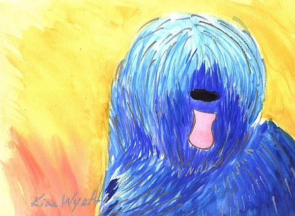 Art: Matisse The Briard by Artist Kim Wyatt