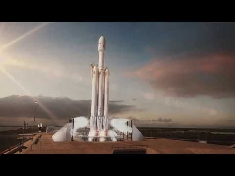 A Stunning Animation of the SpaceX Falcon Heavy Launch Set to the David Bowie Song 'Life on Mars'