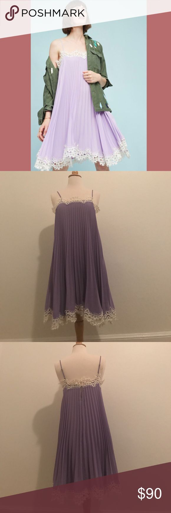 Offers welcome! NWT Anthropologie dress 👗 New with tags Lilac dress from Anthropologie by Moulinette Soeurs. Anthropologie Dresses