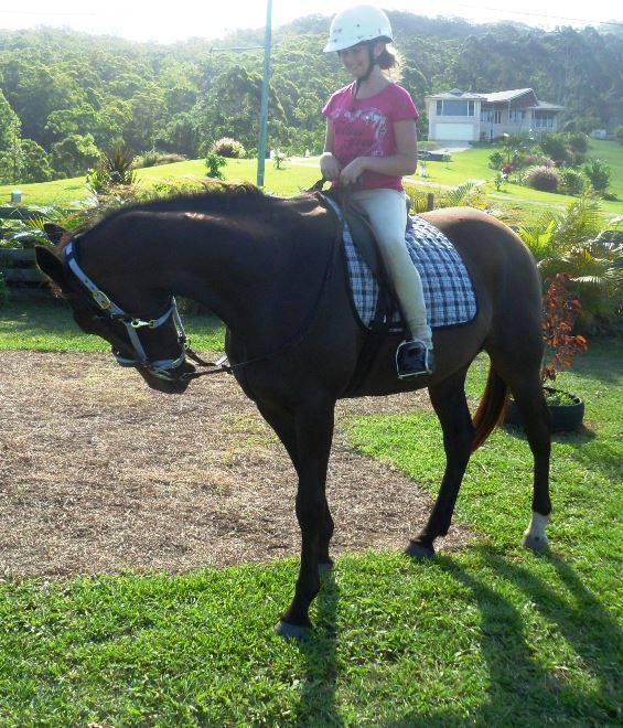 Me riding Marley!