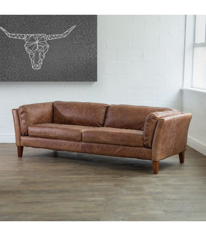 Gabriel Leather Couch - Tan   Bijoux interiors   Leather ...