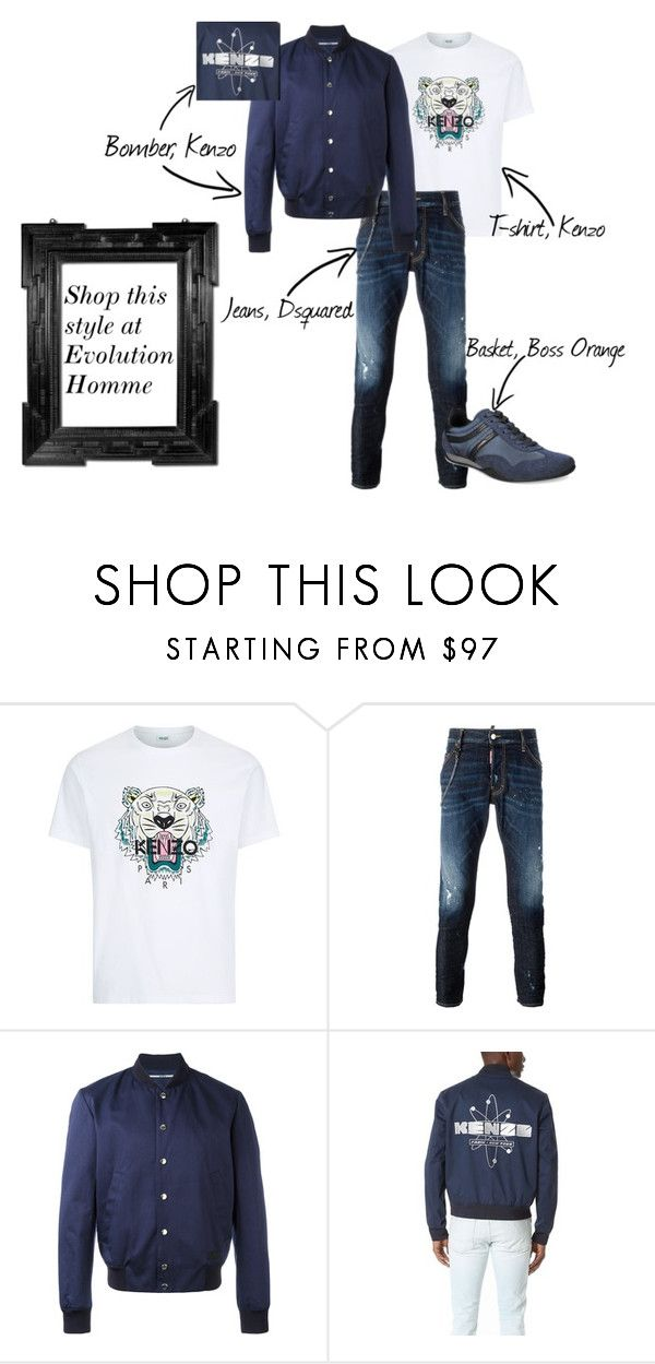 """""""men's fashion"""" by caroline-rnlt ❤ liked on Polyvore featuring Kenzo, Dsquared2, BOSS Orange, Linda Horn, men's fashion and menswear"""