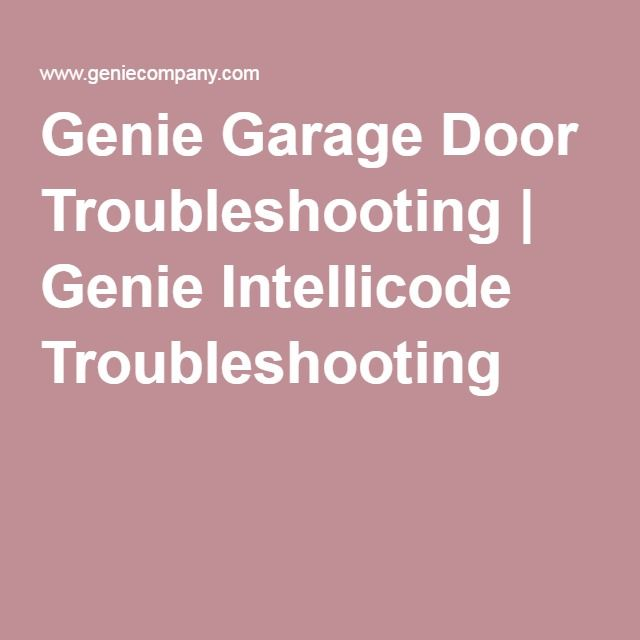 1000 Ideas About Garage Door Troubleshooting On Pinterest