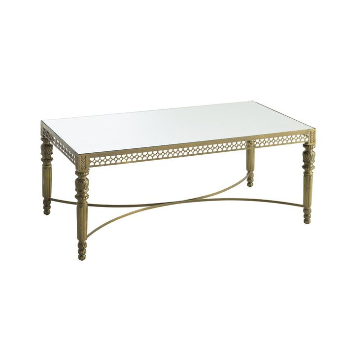Cultivate A Vintage Look With This Bombay Monacco Antique Brass Finish Coffee Table