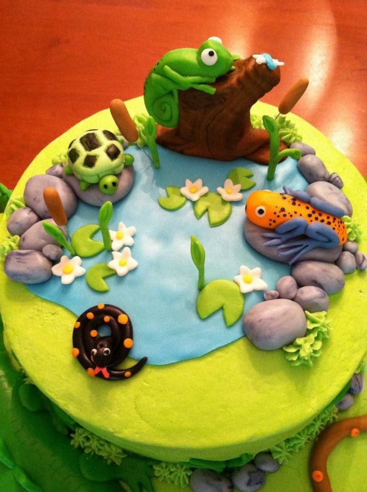 117 best cakesnature images on pinterest cold porcelain frogs reptile cake top inspired by a design i saw online pronofoot35fo Choice Image