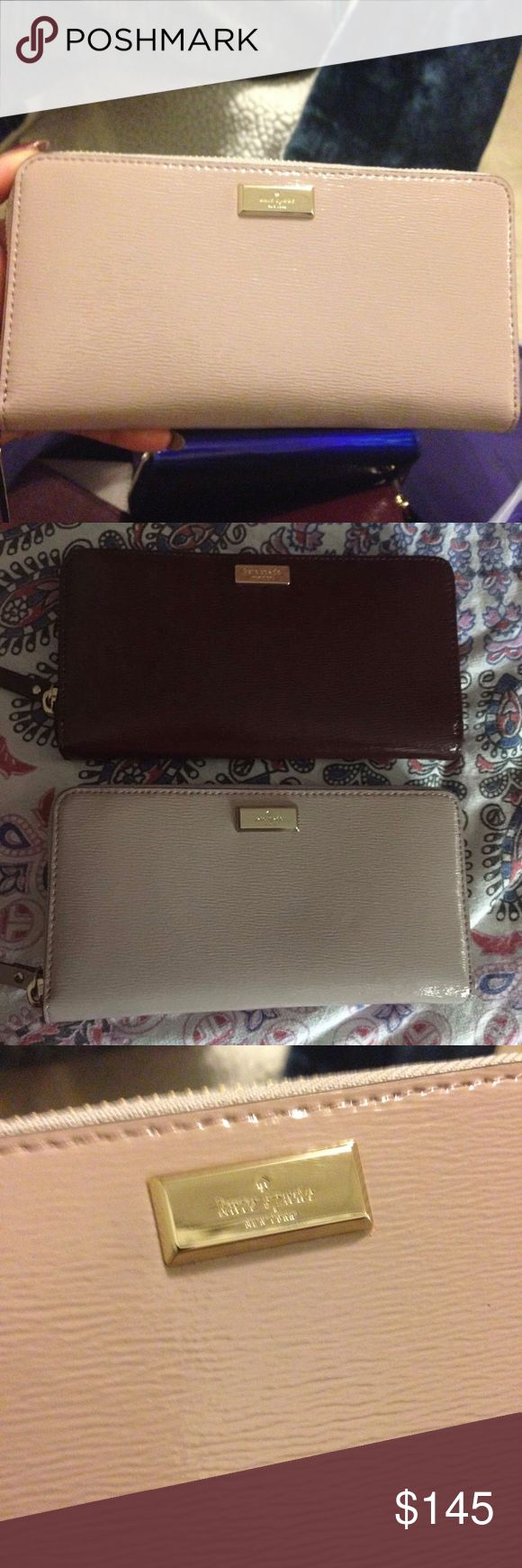 Kate Spade Bixby Place Neda Wallet in Mousse Frost Brand new! Smooth, shiny cross hatched leather textured. With original tags still attached! Makes a beautiful birthday or Mother's Day gift! Please make your offers through the offer button, I don't discuss prices in comments! Please keep in mind the 20% commission fees when making offers. kate spade Bags Wallets