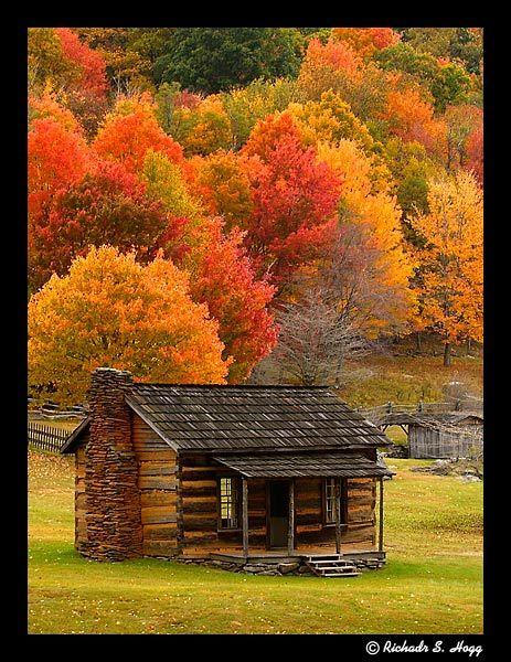 Richard Hogg Photography Cabin In Fall Colors Cabin