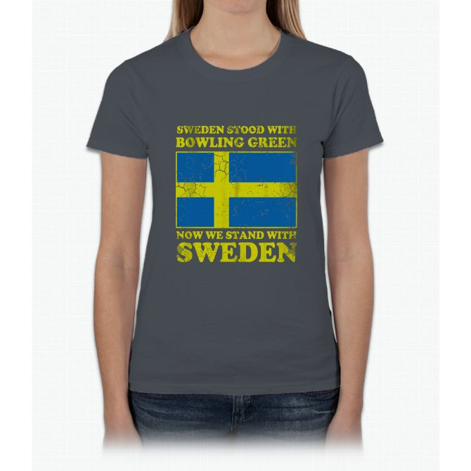 Sweden Stood With Bowling Green Womens T-Shirt