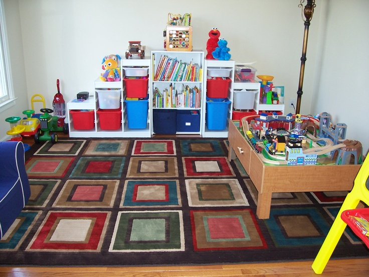 City Center by Mohawk Home - Cute little boy play area! Back corner